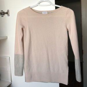 Club Monaco two tone cashmere sweater